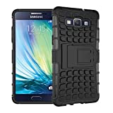 Wow Imagine Shockproof Hard Pc + Tpu With Kick Stand Rugged Back Case For Samsung Galaxy A5 , A500F (2015) - Black