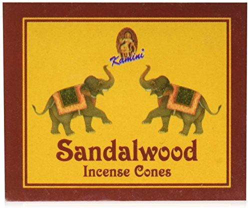 (Kamini Cones Incense Case, Sandalwood, 12 Piece)