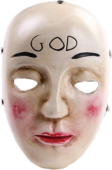 The Purge Anarchy God Mask Hand Painted Halloween Prop Brand New