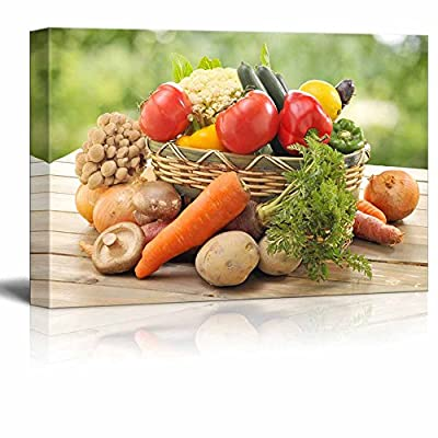 Still Life Fresh Vegetables Photograph Wall Decor, That's 100% USA Made, Incredible Piece of Art