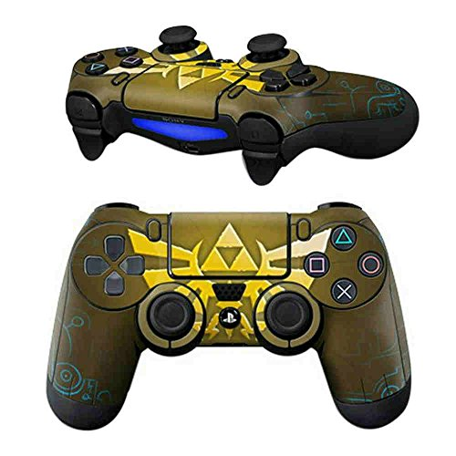 MODFREAKZ Pair of Vinyl Controller Skins - Gold Phoenix for Playstation 4