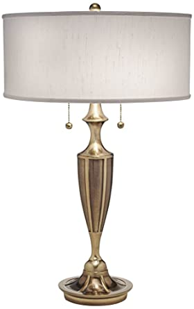Stiffel White And Burnished Brass Table Lamp Amazon Com