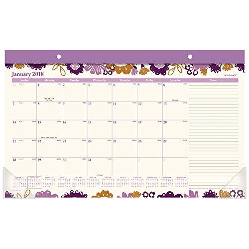 Compact Desk Calendar (AT-A-GLANCE Compact Monthly Desk Pad Calendar, January 2018 - December 2018, 17-3/4