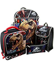 Jurassic World 6 piece Backpack and Lunch Box School Set