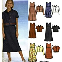 Girls Pullover Dress Jacket Sewing Pattern Simplicity 7245 Size 7-14 Six Easy