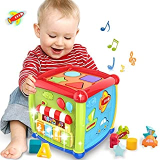 Baby Activity Cube Toy Baby Toys 18+ Month 6 in 1 Multipurpose Baby Toys 6 12 Month Play Center with Music Gift Toys for 1 2 3 Years Old Boys and Girls Toddlers Kids