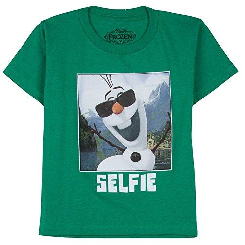 """Disney Frozen Little Boys' Olaf """"SELFIE"""" Tee L(7)"""