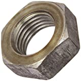 Steel Hex Jam Nut, Plain Finish, Grade 2, ASME B18.2.2, 1''-8 Thread Size, 1-1/2'' Width Across Flats, 35/64'' Thick (Pack of 25)