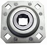 Big Bearing FD208R1-1/8 Disc Harrow Bearing, 1-1/8' Square Bore, 4.69' Diagonal Bolt to Bolt Distance, Fits: Modern, Monroe Tuff line, IHC, King Kutter, and Howse, Metal