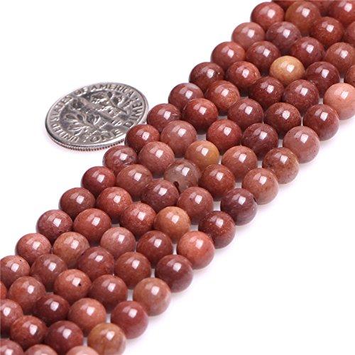 African Blood Jasper Beads for Jewelry Making Natural Gemstone Semi Precious 6mm Dark Red Round 15