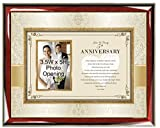 Custom Anniversary Poetry Gift Personalized Frame for Husband, Wife, Girlfriend or Boyfriend with 3.5W X 5H Photo Opening and Overall Plaque Size 16W X 13H Product PGC-Anniversary-B