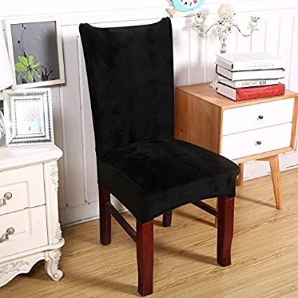 Amazon.com: Monster* Chair Cover Spandex Velvet Dining Chair Cover ...