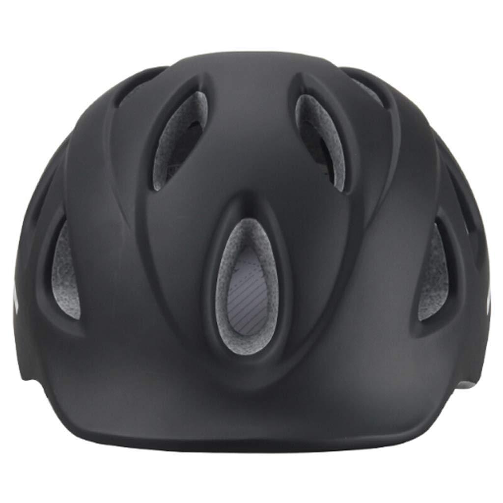 スキー用ヘルメット 男性と女性の黒い道のマウンテンバイクのヘルメットの乗馬のヘルメットは昆虫の純自転車装置と統合しました B07PM2D8PK  Black2