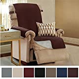 Gorilla Grip Original Slip-Resistant Furniture Protector, Suede-Like Material, Slip Reducing Backing, Two 2'' Thick Straps, Perfect for Kids, Dogs, Cats, Pets, Sofa, and Couch (Recliner: Coffee)