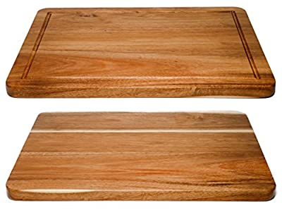 Cutting Board, Acacia Wood Beautiful, 3/4 Inch Thick with Juice Groove