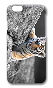 MOKSHOP Adorable Cute Tiger Baby Hard Case Protective Shell Cell Phone Cover For Apple Iphone 6 Plus (5.5 Inch) - PC 3D