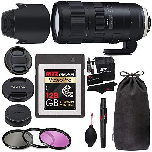 Tamron SP 70-200mm F/2.8 Di VC G2 for Nikon FX Digital SLR Camera (6 Year Tamron Limited Warranty), CFexpress 128GB Type…