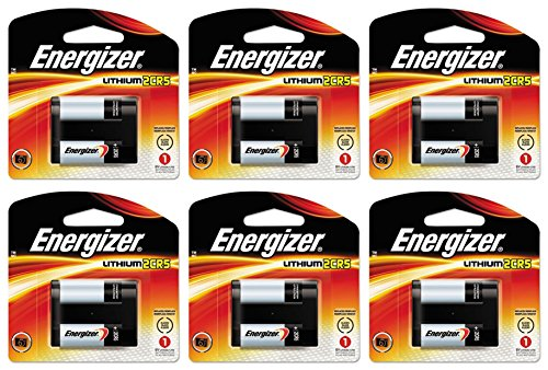 6 Energizer 2CR5 Lithium Camera Photo 6V Batteries