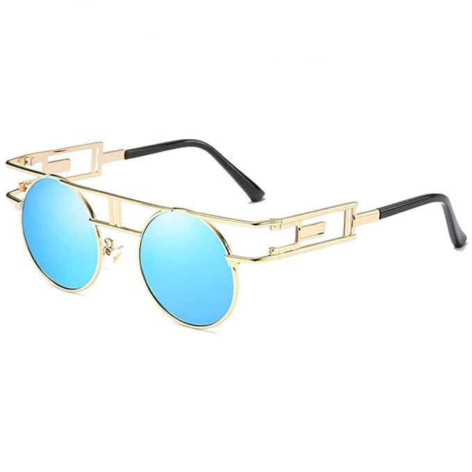 sonnenbrille Männer und frauen runden rahmen farbe Spiegel Retro mode brille sonnenbrille schwarzer rahmen graues Objektiv pN6nnG