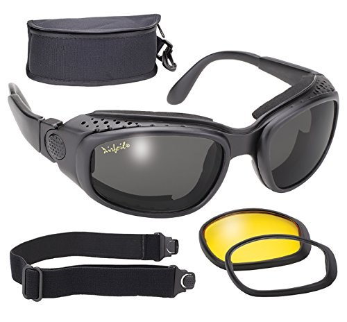 Pacific Coast Airfoil Windproof Lens Kit (Black Frame/Smoke, Yellow, Clear Lens)