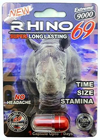 Premium Rhino 69 Extreme 9000 Bullet Red BEST Sex Pill - Male Sexual Performance Enhancer - Time Size Stamina - Fast Acting & Longer Lasting - 12 (Pills Fast)