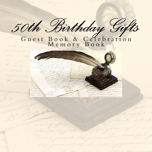 50th Birthday Gifts: Guest Book & Celebration Memory Book