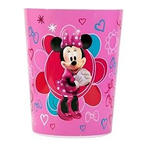 amazon com disney minnie mouse plastic trash can