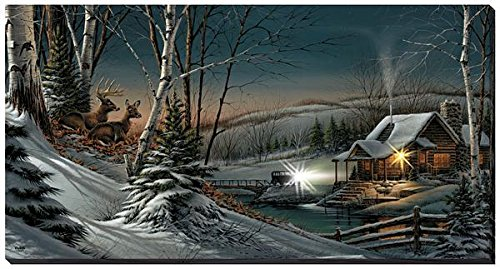 Wild Wings Evening with Friends Lighted Wrapped Canvas by Terry Redlin (Terry Redlin Best Friends Print)