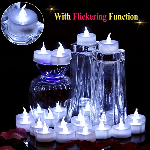 OMGAI 24 PCS LED Tea Lights Candles Battery-Powered Small Bright Flickering Flameless Candles for Home Decoration - Cool White by OMGAI (Image #1)