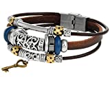 Best Regetta Jewelry And Friend Charms - Brown Leather Rope Wrist Bracelet with Metal Alloy Review
