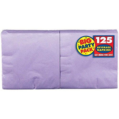 Lavender, Big Party Pack, 2-Ply Beverage Napkins, 125 Per Pack ()