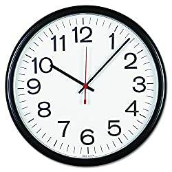 Universal 11381 Indoor/Outdoor Clock, 13 1/2, Black