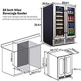 BODEGA 24 Inch Dual Zone Wine and Beverage