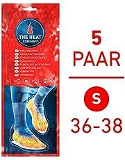 THE HEAT COMPANY Semelles Chauffantes - EXTRA CHAUD - 8 heures de chaleur - chaleur immédiate - autochauffante - purement naturel - SMALL Taille: 36-38 - 5 paires