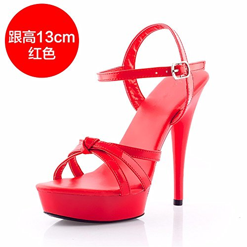 FLYRCX Europeo de verano zapatos de tacón mujer sexy sandalias de tacón fino de personalidad e