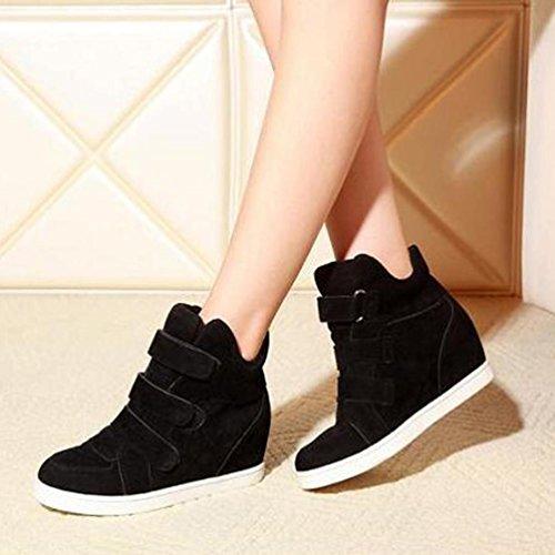 Canvas Fashion Sneakers Hidden High Women TM Wedge Black Platform Booties AMA Top wqO8W