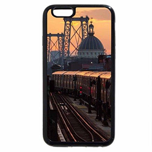 iPhone 6S / iPhone 6 Case (Black) subway coming off the williamsburgh bridge nyc