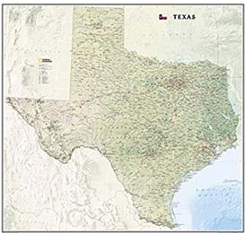 Road Map Of Texas State.Amazon Com Texas State Wall Map Material Paper Road Map Texas