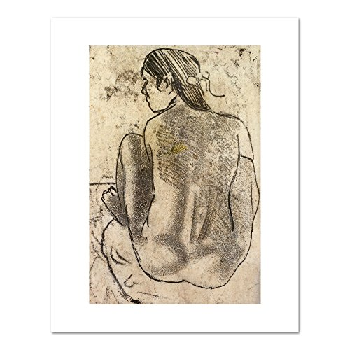 Seated Tahitian Nude from the Back by Paul Gauguin, circa 1902. Art Print