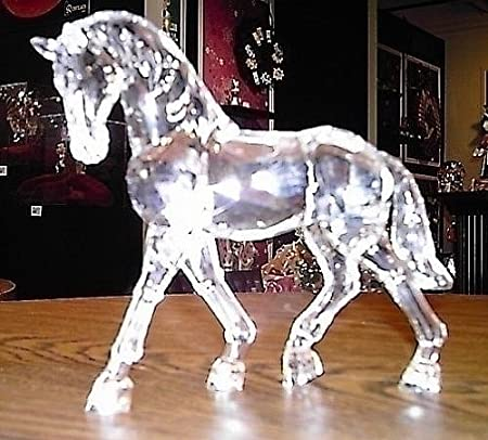 6.5 Icy Crystal Standing Horse Table Top Figure