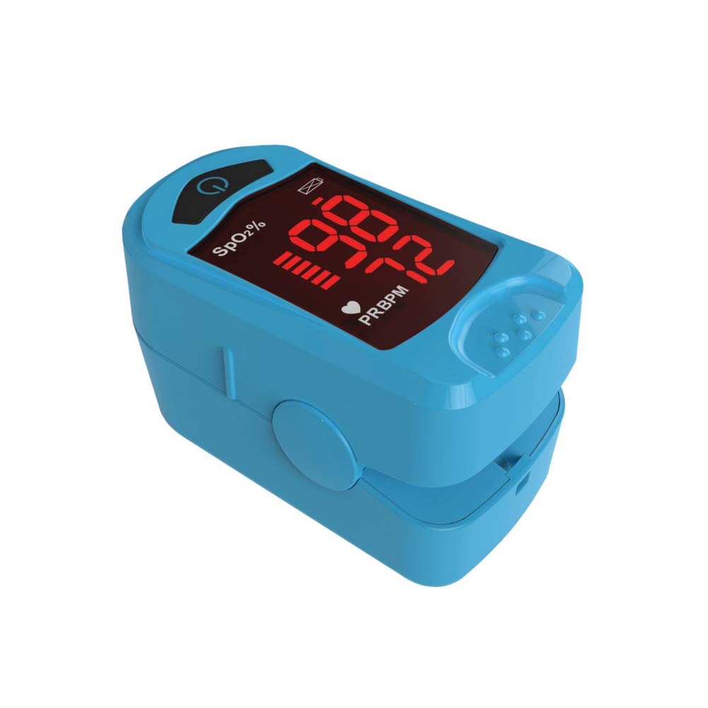Carex Finger Pulse Oximeter Oxygen Saturation Monitor - Pulse Ox Fingertip o2 Monitor for Pediatric and Adult - Comes with a Lanyard