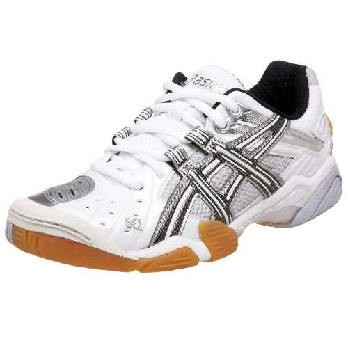 ASICS Women's GEL-Domain Court Shoe,White/Black/Silver,12 B US (Asics Gel Domain)
