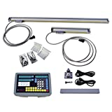 ECO-WORTHY 2 Axis Digital Readout DRO Kit with 2pcs Precision Linear Scale for Milling Lathe Machine