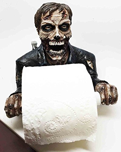 ZOMBIE WALKING DEAD CLEANUP MESS TOILET PAPER HOLDER AWESOME HOME (Zombie Toilet Paper Holder)