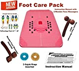 Super INDIA Store--Acupressure Power Mat with Magnets n Pyramids for Pain Relief & Total Health Care Useful for Heel Pain - Knee Pain - Leg Pain - Sciatica - Cramps - Migraine - Depression + 2 Wooden Face Massagers