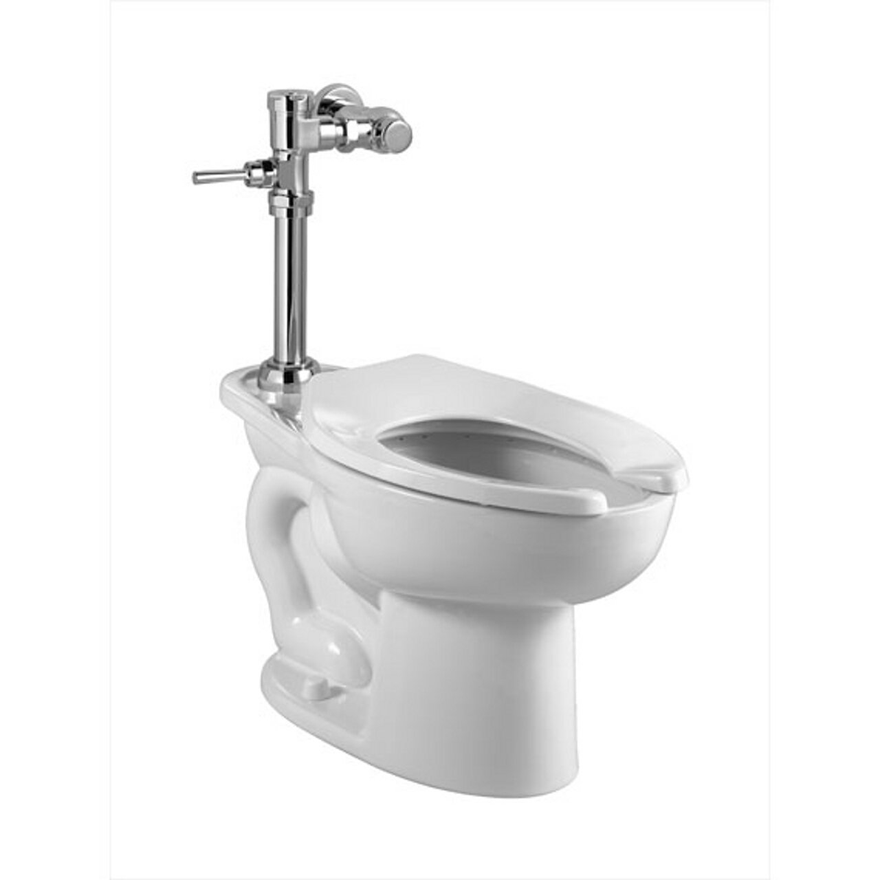 American Standard 2858.128.020 Madera 1.28 GPF Elongated Toilet with Manual Flush Valve, White