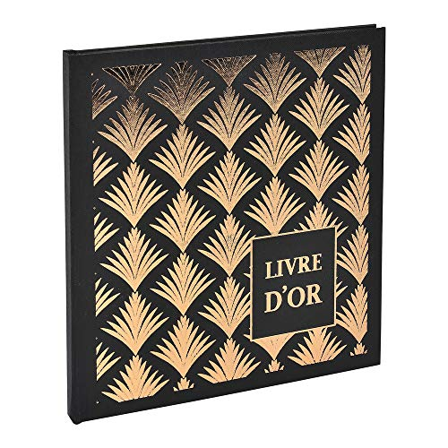 Exacompta Guest Book 140 Pages 21 x 19 cm, Black, One Size ()