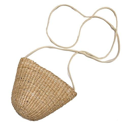 Artone Clásico Paja Tejeduría Verano Playa Totalizador Handbag Bolsa De Hombro Respetuoso Del Medio Ambiente Bolsa De La Compra Beige Bolso Pequeño Beige (13 * 10cm)