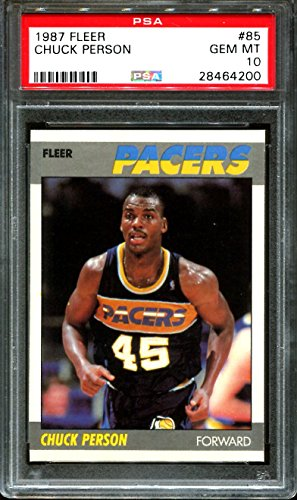 1987 FLEER #85 CHUCK PERSON RC PACERS PSA 10 K2524410-200