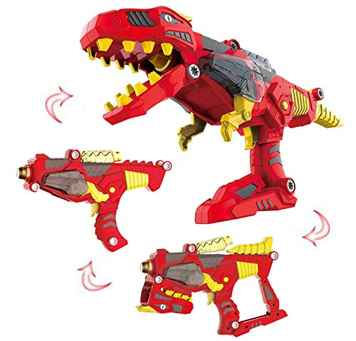 Liberty Imports 3-in-1 Dinoblaster Transforming Dinosaur Gun Engineering Take Apart Toy Tool Kit with Lights and Sound (Tyrannosaurus Rex) -